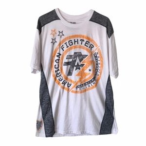 AMERICAN FIGHTER Double Sided Graphic T-Shirt